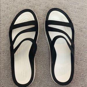 Crocs iconic comfort sandal.